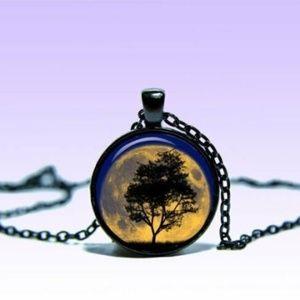 ~ Mystic Tree of Life Moon Pendant ~